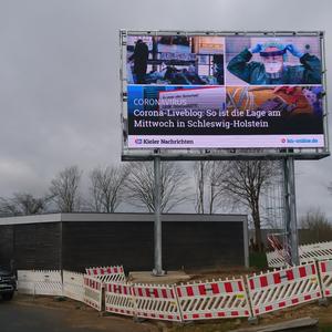 Fundament für Kieler Nachrichten Werbetafel - [2020]