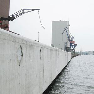 Neubau Kaimauer - Flensburg